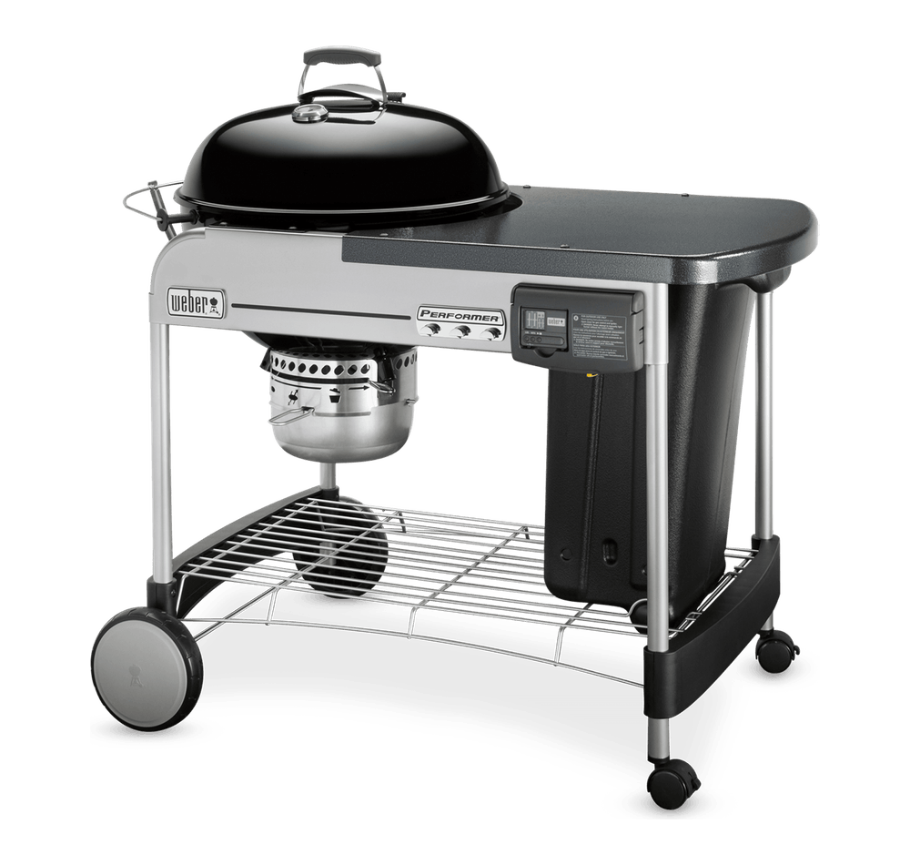 "Performer Deluxe Charcoal Grill 22"" View"