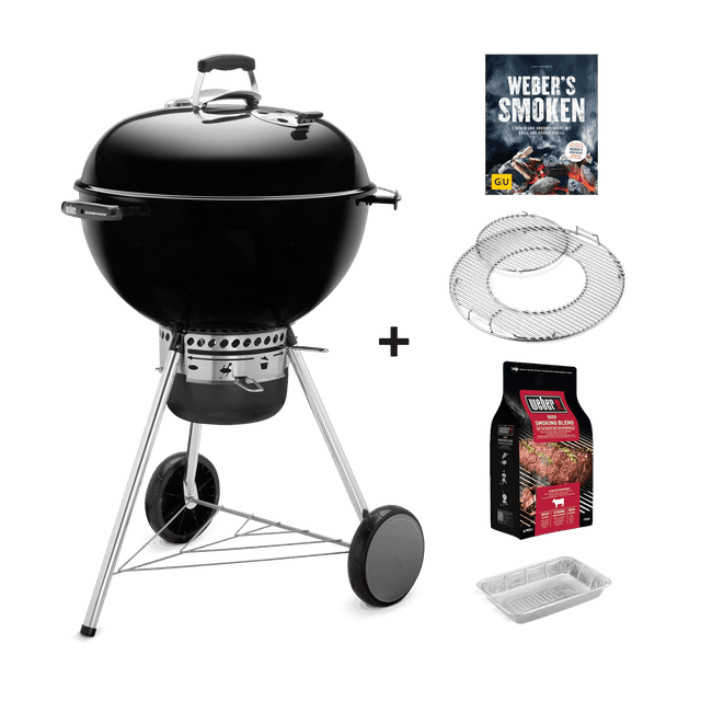 Master-Touch GBS Special Edition Pro – Holzkohlegrill Ø 57 cm + Räucher-Set