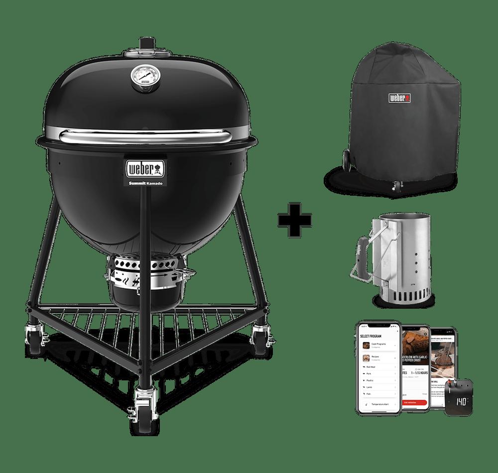 Parrilla a carbón Summit®️ Kamado E6 + Funda + Rapidfire + Weber Connect View