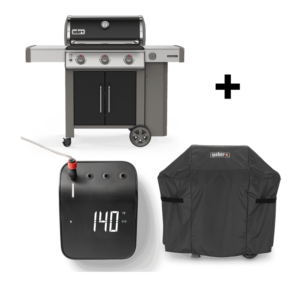Parrilla a gas Genesis®️ II E-315 GBS + Funda + Weber Connect View