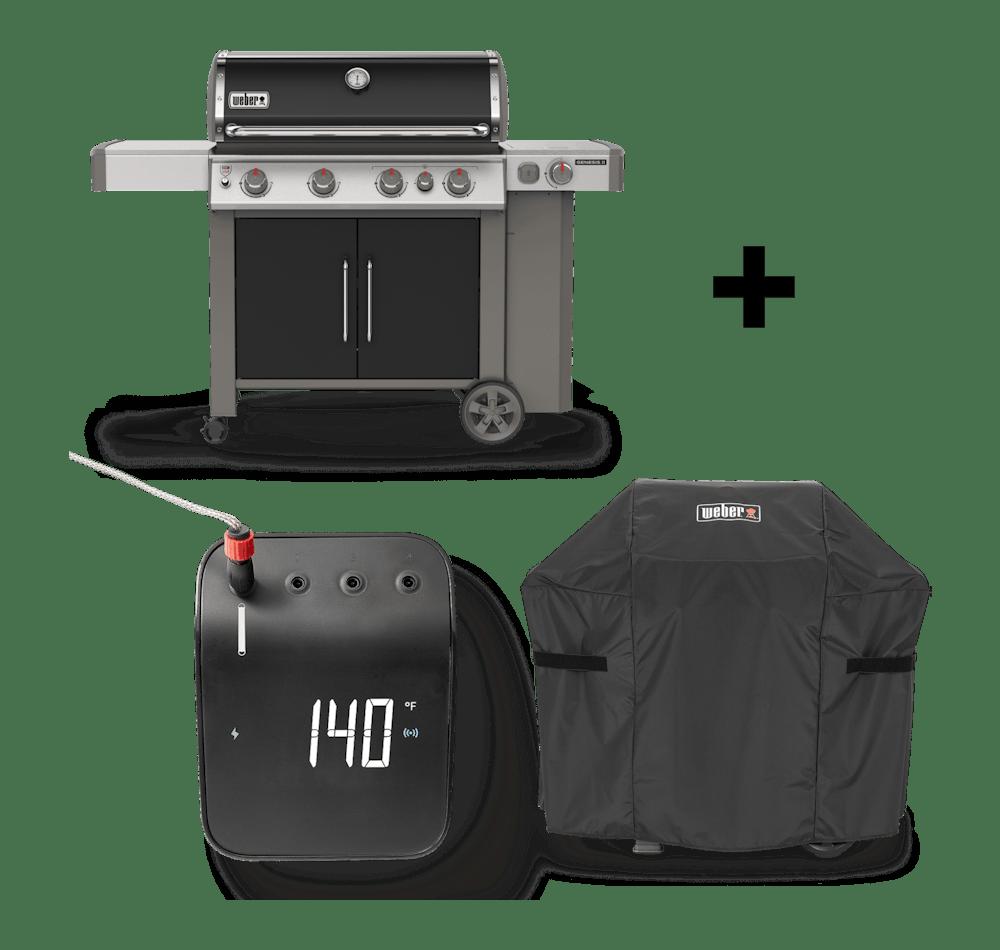 Parrilla a gas Genesis®️ II E-435 GBS + Funda + Weber Connect View