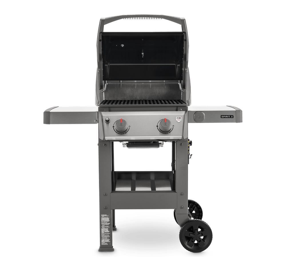 Spirit II E-210 Gas Grill Lid Open