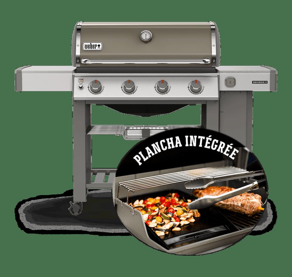 Barbecue à gaz Genesis®II E-410 GBS Plancha View