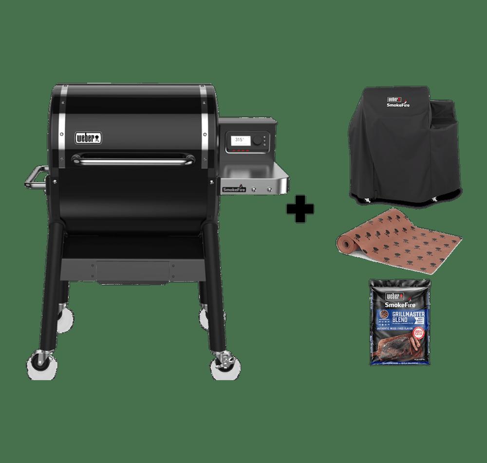 Parrilla a Pellet SmokeFire EX4 GBS + Funda + Butcher Paper + Pellets de Madera Natural Grill Master  View