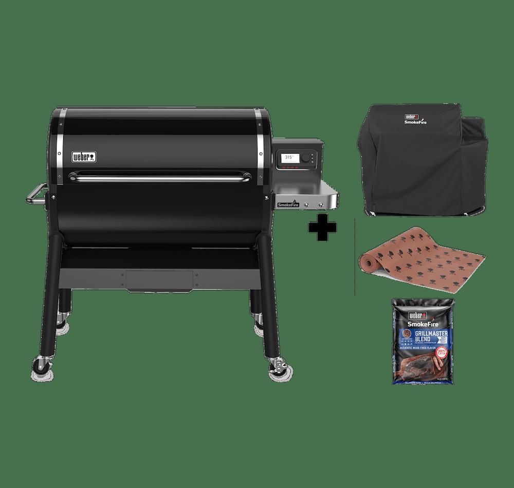 Parrilla a Pellet SmokeFire EX6 GBS + Funda + Butcher Paper + Pellets de Madera Natural Grill Master View