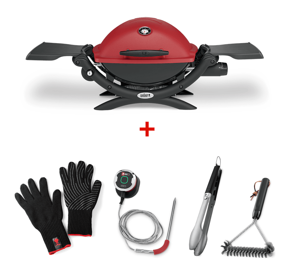 Q 1250 iGrill Elevated Set (Red) View
