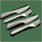 Steak Knife & Fork Set - 4 Pcs image number 0
