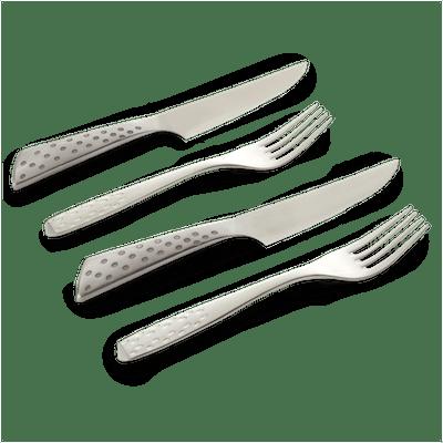 Steak Knife & Fork Set - 4 Pcs