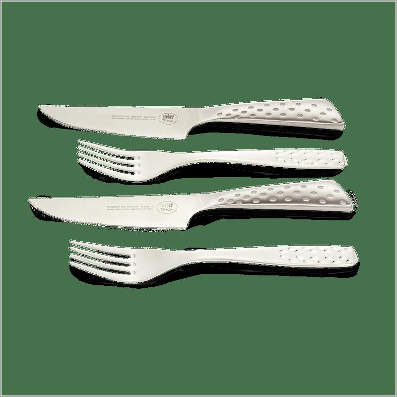 Steak Knife & Fork Set - 4 Pcs image number 1