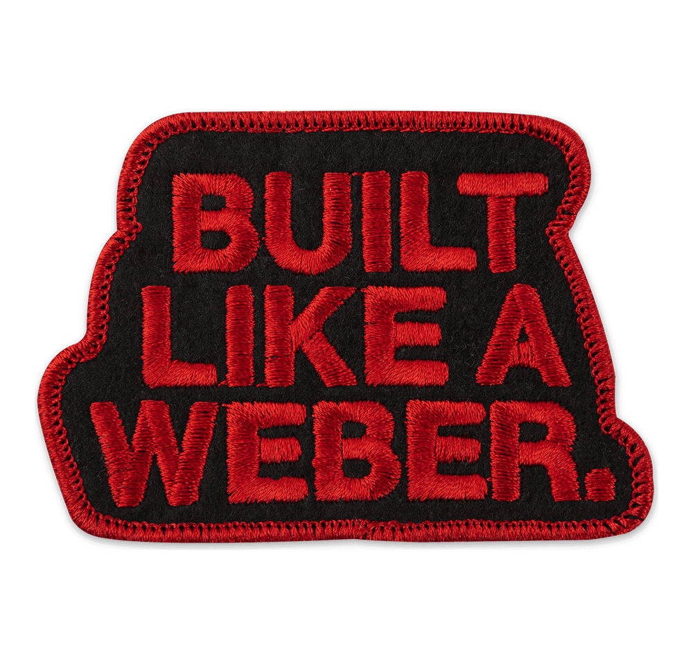 "Limited Edition ""Built Like a Weber""-stofmærke View"