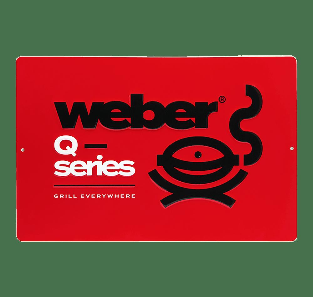 Enseigne métallique de la série Weber Q édition limitée View