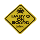 """Limited Edition Weber """"Baby Q on Board"""" Car Decal image number 0"""