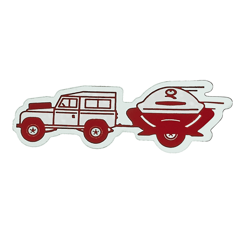 Limited Edition Weber Q Trailer Car Decal  View