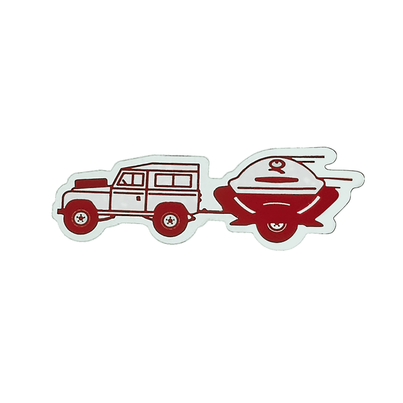Limited Edition Weber Q Trailer Car Decal image number 0