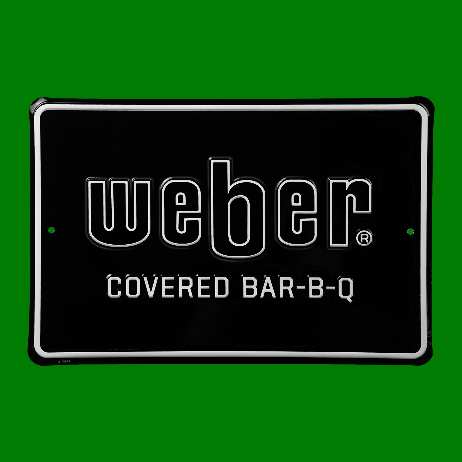 "Limited Edition Weber ""Covered Bar-B-Q"" metalldekal"