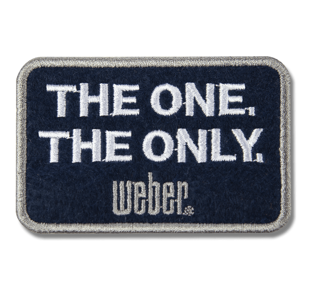 """Parche con la leyenda """"The One, The Only"""" Weber Limited Edition  View"""