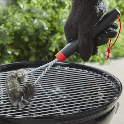 "Grill Brush - 12"" Three-Sided"