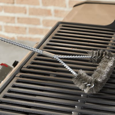 "Grill Brush - 18"" Three-Sided"