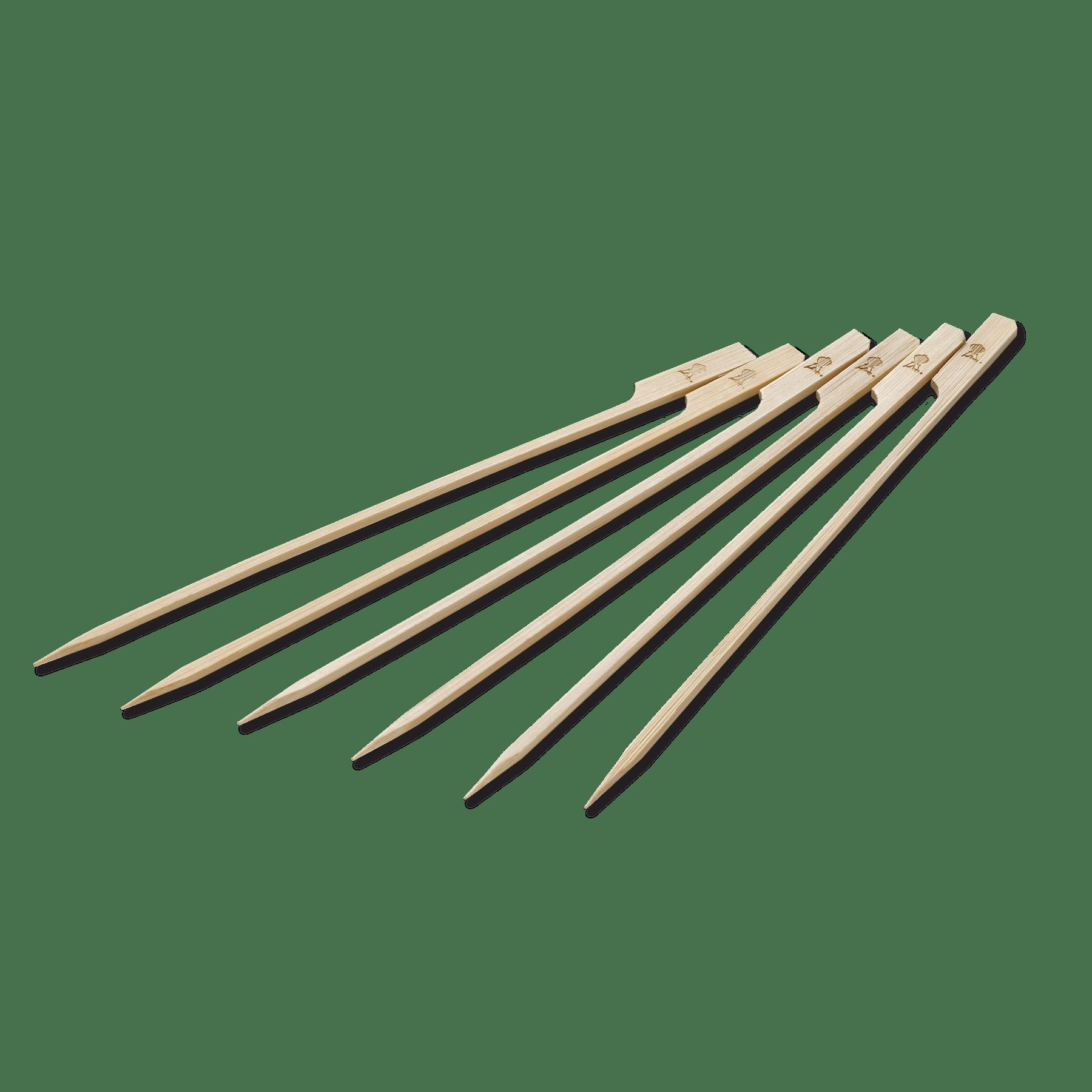 Brochetas de bambú