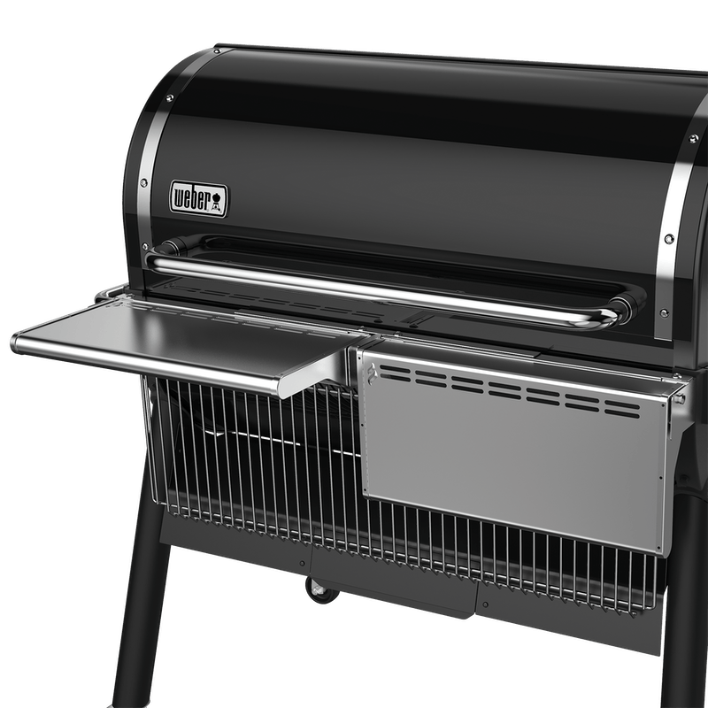 Stainless Steel Folding Front Shelf - SmokeFire EX6 Wood Pellet Grill image number 1