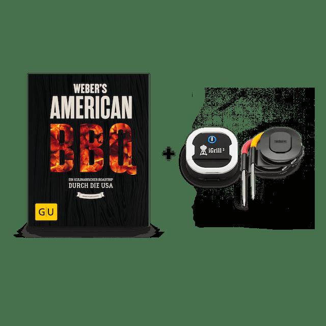 iGrill 3 im Set mit dem Weber´s American BBQ Buch