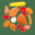 Spielzeug-Grillgut-Set
