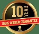 10 Year, 100% Weber Guarantee